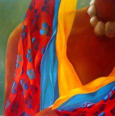 Serie Raíces - Arte Mary Cielo Scrapbooking Image, Tropical Paintings, Colombian Art, Painting People, Learn Art, Portrait Art, American Art, Africa, Orange