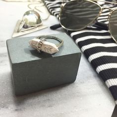 Rebecca Minkoff Marble Stone Ring Details: • Size 7 • Silver tone metal • Glass marbled stone  • NWT   05271602 Rebecca Minkoff Jewelry Rings