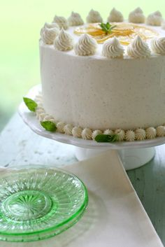 lemon cake with vanilla bean frosting  from  Annies Eats... looks  delicious!