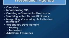 VLS (Vocabulary Learning Strategies) for the Adult ESL Student: Part III-Integrating VLS into Instruction on Vimeo