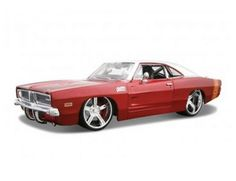 The Maisto 1/24 1969 Dodge Charger Kit is a superbly detailed diecast model kit car in the Maisto 1/24 AllStars Kit Collection.
