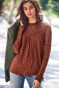 Lace Panel Top (826914) | £25