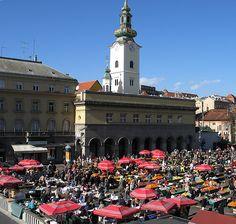 Glorious day on the Zagreb market  Croatia