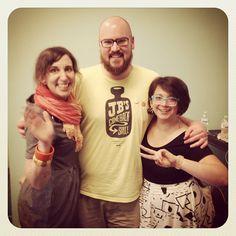 Three of my #wmcfest heros: Starring @katebingburt @jenniferdaniel + @josephmhughes #wmcfest by Joe on Instagram
