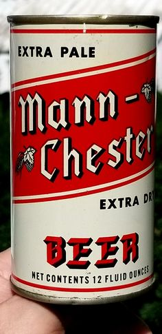 Extra Pale Mann - Chester Beer , L.A CA 》1969 Beer Can Collection, Old Beer Cans, Label Shapes, Beer Brands, Best Beer, Mixed Drinks, Chester, Vintage Ads, Craft Beer