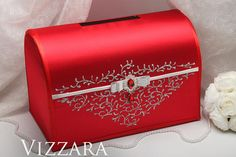 Wedding boxes Red wedding Wedding gift boxes Red and white wedding Wedding wish boxes Red and silver wedding Wedding Gift Boxes, Wedding Sets, Wedding Cards, Wedding Invitations, Quinceanera Planning, Quinceanera Themes, Red Wedding Decorations, Wedding Centerpieces, Wish Box
