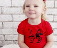 LOVE Roller Derby Baby Onepiece Red Cotton by CausticThreads, $18.00