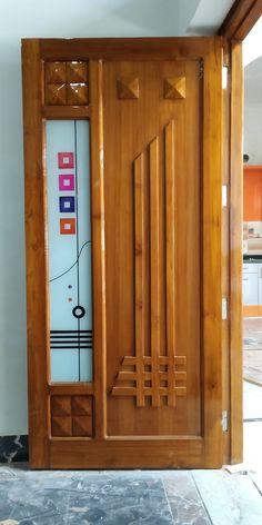 Wooden Front Door Design, Wooden Main Door Design, Wooden Front Doors, House Front Design, Pooja Room Door Design, Bedroom Door Design, Door Design Interior, Wooden Glass Door, Door Design Images