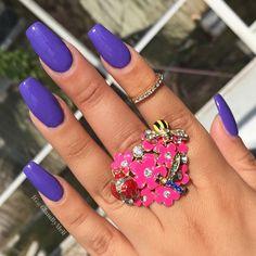 purple nails @wetnwildbeauty mega last (on a trip)