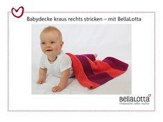 Babydecke stricken für Anfänger - kraus rechts - YouTube