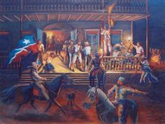 The grito de lares,Puerto Rico's first and only cry for independence, between 600 to 1000 men. September 23,1868