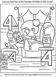 preschool dover de cijferkleurplaat 8 kleuters rekenen math 652