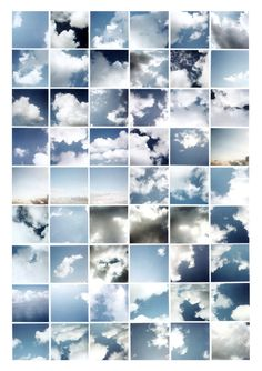 Sol LeWitt: Clouds, Fifty-four chromogenic prints mounted on board, 31 x 22 (mount). Sequence Photography, A Level Photography, Photography Themes, Photography Series, Photography Projects, Creative Photography, Landscape Photography, Street Photography, David Hockney Photography