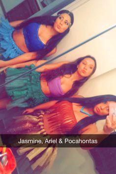 #halloween #pocahontas #ariel #jasmine