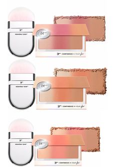 It Cosmetics Confidence In Your Glow Blushing Bronzer with Wonder Brush