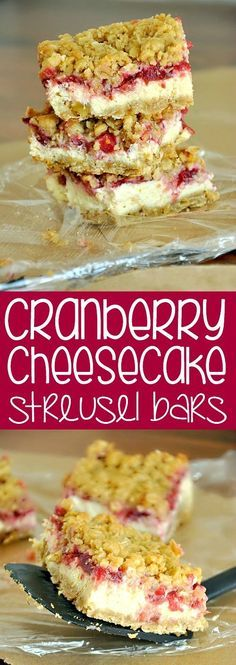 Cheesecake Streusel Bars Cranberry Cheesecake Streusel Bars :: Use leftover cranberry sauce to whip up this delicious gluten-free treat!Cranberry Cheesecake Streusel Bars :: Use leftover cranberry sauce to whip up this delicious gluten-free treat! Cranberry Cheesecake, Cranberry Recipes, Cranberry Sauce, Holiday Recipes, Holiday Meals, Cranberry Bars, Cranberry Muffins, Orange Recipes, Cheesecake Bars