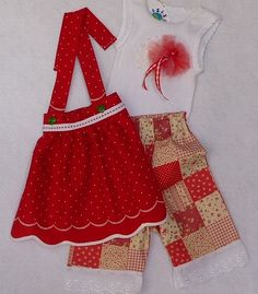 NOW ON SALE FOR ONLY $50 SET Baby Summer/Alpine Outfit  OOAK Fancy Singlet Long by TwinsFromOz, $65.00