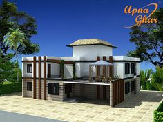 7 bedrooms duplex (2 floors) home. Area: 900m2 (30m X 30m) .Click link ( http://apnaghar.co.in/house-design-191.aspx)  to view free floor plans (naksha) and other specifications for this design. You may be asked to signup and login. Website: www.apnaghar.co.in, Toll-Free No.- 1800-102-9440, Email: support@apnaghar.co.in