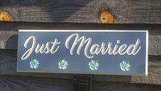 Outdoor/Indoor Just Married Sign