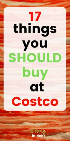 Wondering what to buy at Costco? Here are your Costco must haves and all the cheapest things you should buy at Costco that will make your Costco membership worth it! ( is my favorite! Make More Money, Ways To Save Money, Money Tips, Money Saving Tips, Saving Ideas, Costco Shopping List, Shopping Hacks, Costco Finds, Store Hacks