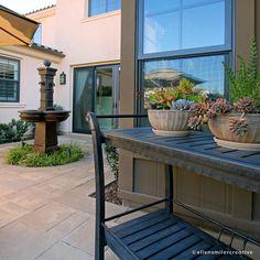 Dana Point CA Photoshoot. Lovely fountain and patio design. Dana Point, Patio Design, Fountain, Photoshoot, Interiors, Landscape, Creative, Outdoor Decor, Photography