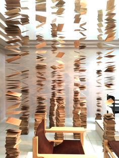 This work is an installation for a furniture manufacture's exhibition in Asahikawa, Japan.