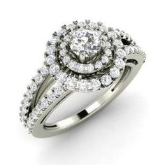 SI Diamond Engagement Ring in 14k White Gold (1.31 ct.tw.) - Corona