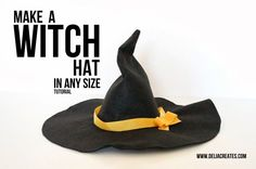 Make a Witch Hat in Any Size TUTORIAL