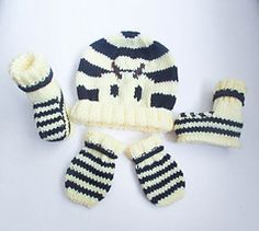 Ravelry: Bumble Bee Animal Hat Booties Mittens pattern by Wistfully Woolen