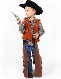 Diy kids costume cowboy chaps and vest levis 5th bday cow boy costume children google search solutioingenieria Gallery