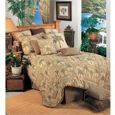 Palm Grove Tan Comforter Sets by Karin Maki - FINAL SALE