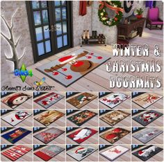Sims 4 CC's - The Best: Winter & Christmas Doormats by Annett85