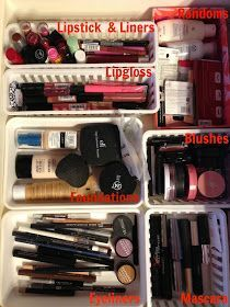 Organizing your makeup- my giant bag isn't cutting it anymore.
