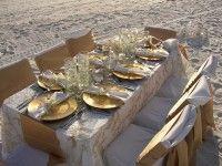 Eat outside on the beach at the Henderson Park Inn