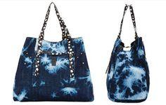 Rachel Zoe bag of the day - Jerome Dreyfuss Pat Tie Dye Denim Bag