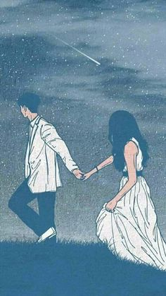 Poetry feeds the spirit. Pannia)Source The Effective Pictures We Offer You … Love Cartoon Couple, Cute Love Cartoons, Anime Love Couple, Cute Anime Couples, Cute Couple Drawings, Cute Couple Art, Love Drawings, Couple Pics, Pencil Drawings