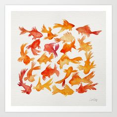 Goldfish Art Print by Cat Coquillette | Society6