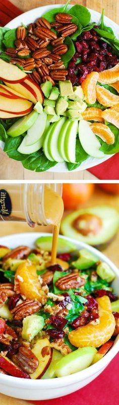 recetas de verano con frutas, espinaca y aguacate