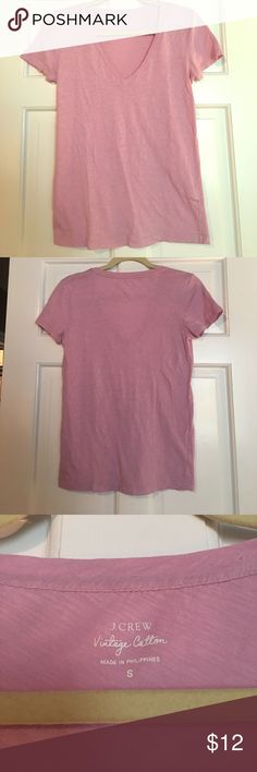J. Crew Vintage Cotton Tee This mauvey-pink shirt has only been worn about 4 times! It is a great pop of color to any casual outfit!! No stains or tears J. Crew Tops Tees - Short Sleeve