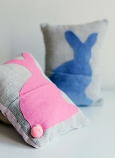 ✝ bunny pouch pillow...free template..how to...
