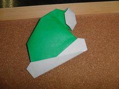 Daily Origami:  180 - Christmas - Santa Hat