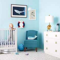 Follow our design plan to transform your little guppie's #nursery into an under-the-sea nautical paradise.