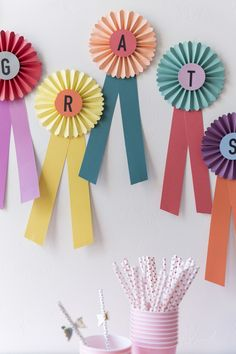 "DIY Paper prize ""Congrats"" ribbons using cutting machine"