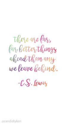 Yes, keep looking forward and leave those things behind!