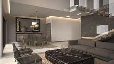Sala comedor y escalera.: Salas de estilo moderno por Nova Arquitectura