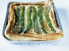 Spargel-Quiche mit Käse |