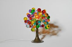 Table lamp with multicolored  bubbles. by yehudalight on Etsy https://www.etsy.com/listing/219259334/table-lamp-with-multicolored-bubbles