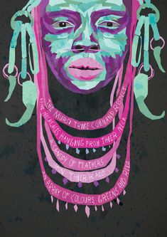 3rd year Graphic Design student at Nottingham Trend University, Alexandria Robinson, had the challenge to visually interpret three poems, using an imaginative use of imagery and typography. All three poetic interpretations are based on African tribes.