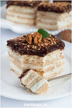 Ciasto jeżyki – I Love Bake – Famous Last Words Polish Desserts, No Bake Desserts, Delicious Desserts, Unique Recipes, Sweet Recipes, Russian Recipes, Winter Food, Winter Meals, Homemade Cakes