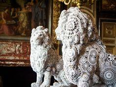 Féenambulle: Lion en napperons crochet !!!